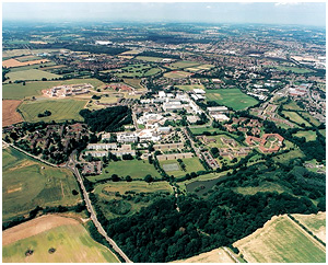 Warwick University Campus from the air